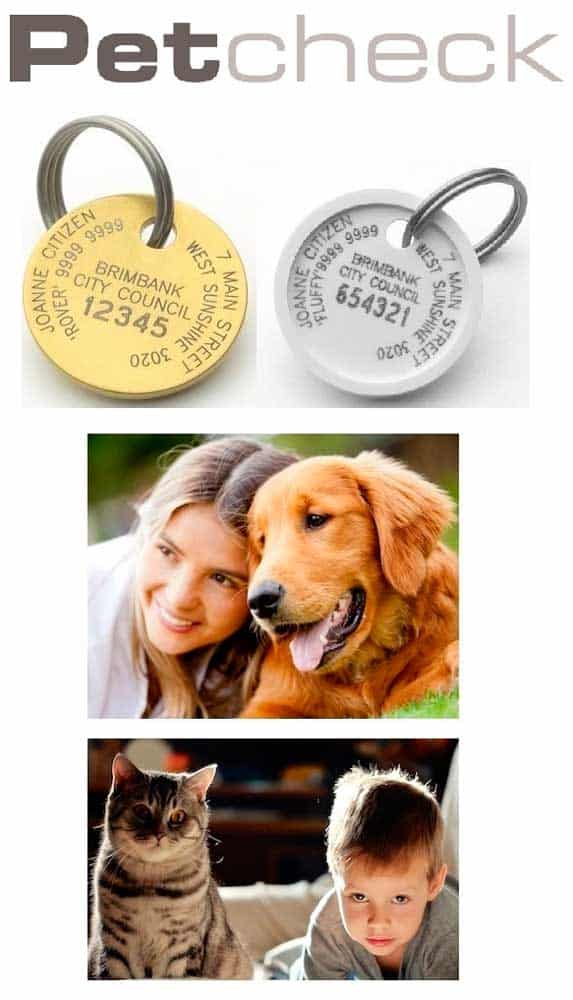 Petcheck dog tag and cat tag